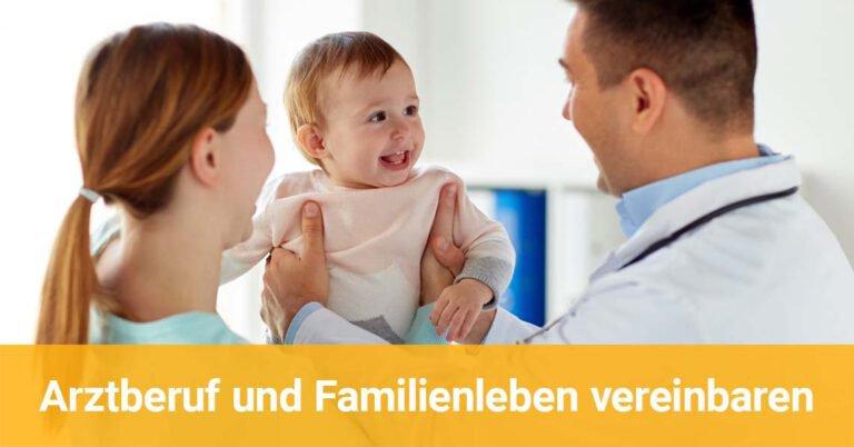 Arzt hat Spaß mit Frau und Kind