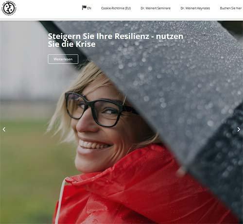 Screenshot der Website www.drweinert.com