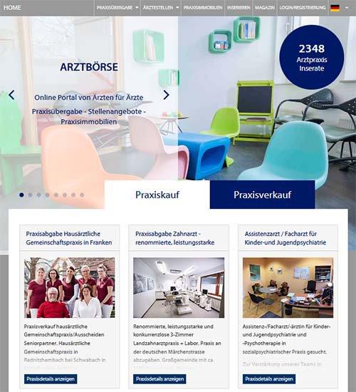 Screenshot der Website www.landarztboerse.de