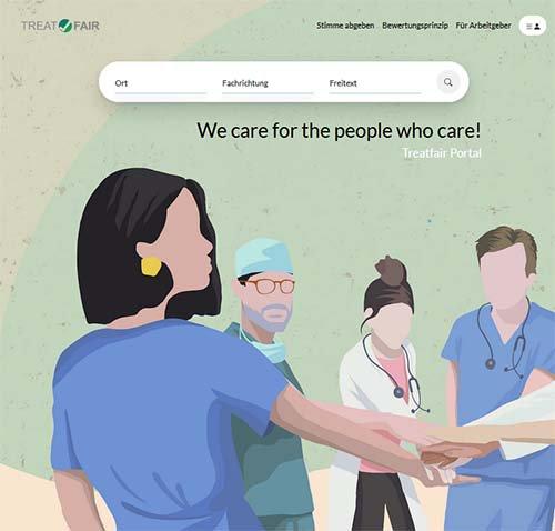 Screenshot der Website www.treatfair.org